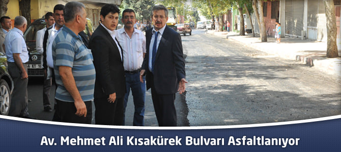 Av. Mehmet Ali Kısakürek Bulvarı Asfaltlanıyor