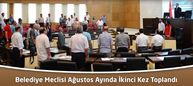 Kahramanmaraş Belediye Meclisi Ağustos Ayında İkinci Kez Toplandı