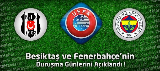 CAS Beşiktaş ve Fenerbahçe'nin Duruşma Günlerini Açıkladı