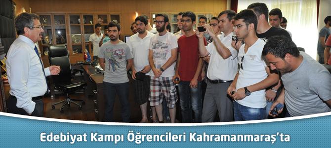Edebiyat Kampı Öğrencileri Kahramanmaraş'ta