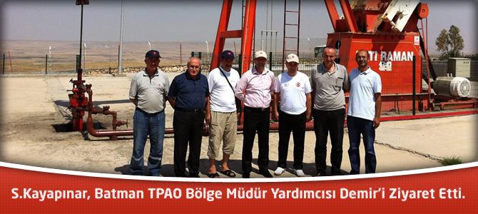 Kayapınar, Batman TPAO Bölge Müdür Yardımcısı Demir'i Ziyaret Etti.