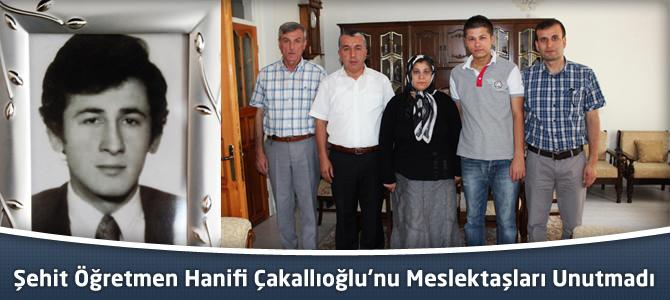 Şehit Öğretmen Hanifi Çakkalıoğlu'nu Arkadaşları Unutmadı