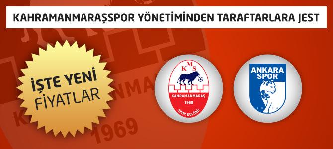 Kahramanmaraşspor Bilet Fiyatları Daha da İndirimli