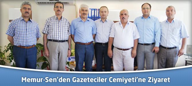 Memur-Sen'den Kahramanmaraş Gazeteciler Cemiyeti'ne Ziyaret