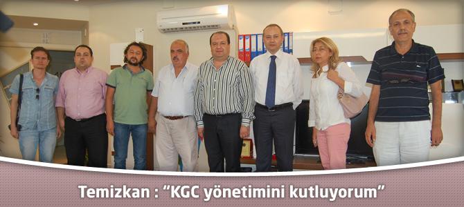 """Temizkan : """"Kahramanmaraş Gazeteciler Cemiyeti yönetimini kutluyorum"""""""
