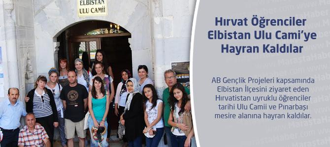 Hırvat Öğrenciler Elbistan Ulu Camiye Hayran Kaldılar