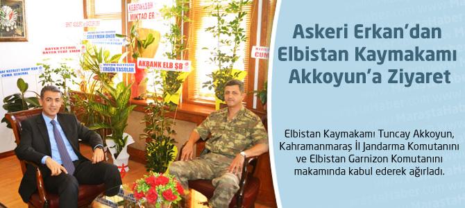 Askeri Erkan'dan Kaymakam Akkoyun'a Ziyaret