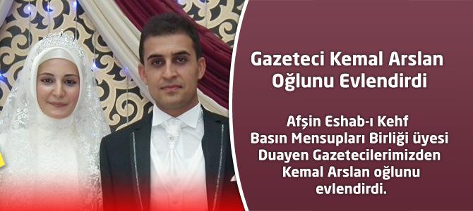 Gazeteci Kemal Arslan Oğlunu Evlendirdi.