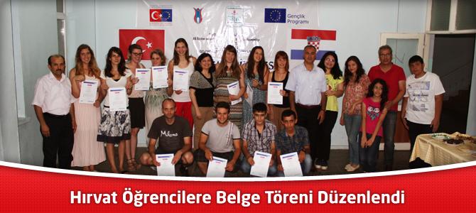 Hırvat Öğrencilere Belge Töreni Düzenlendi