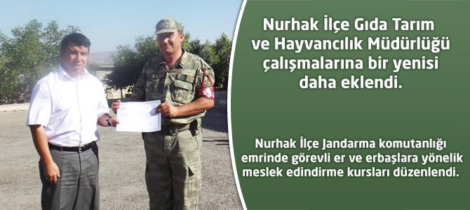 Nurhak İlçe Gıda Tarım ve Hayvancılık Müdürlüğü çalışmalarına bir yenisi daha eklendi.