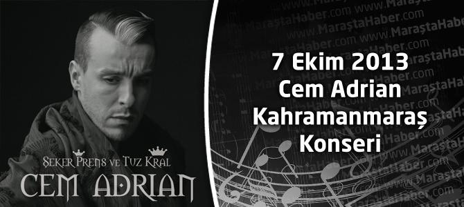 7 Ekim Cem Adrian Kahramanmaraş Konseri