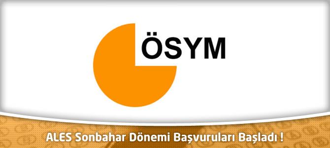 ÖSYM : 2013 ALES Sonbahar Dönemi Başvuruları Başladı – osym.gov.tr