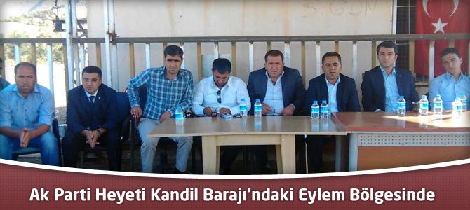 Ak Parti Heyeti Kandil Barajı'ndaki Eylem Bölgesinde