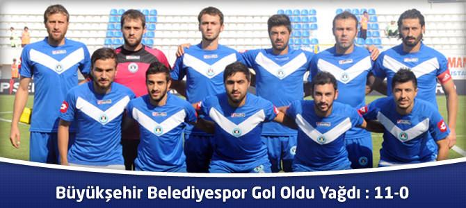 Büyükşehir Belediyespor Belediye Bingölspor'a Gol Oldu Yağdı: 11-0