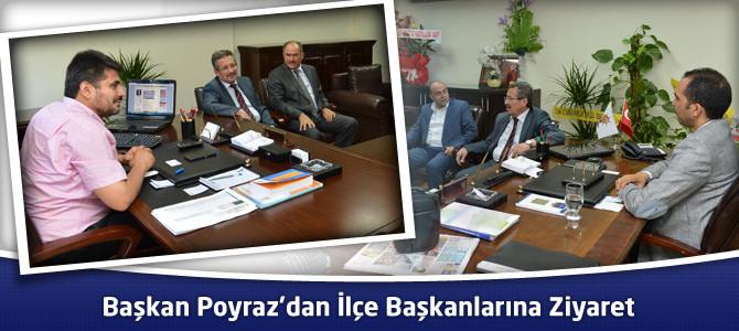 Başkan Poyraz'dan AK Parti Dulkadiroğlu ve Oniki Şubat İlçe Başkanlıklarına Ziyaret