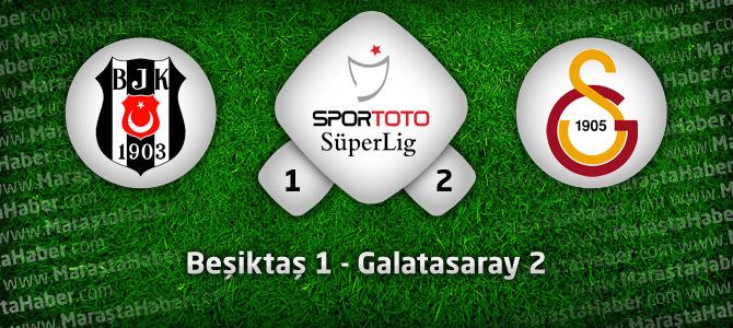 Beşiktaş 1 – Galatasaray 2 geniş maç özeti ve golleri