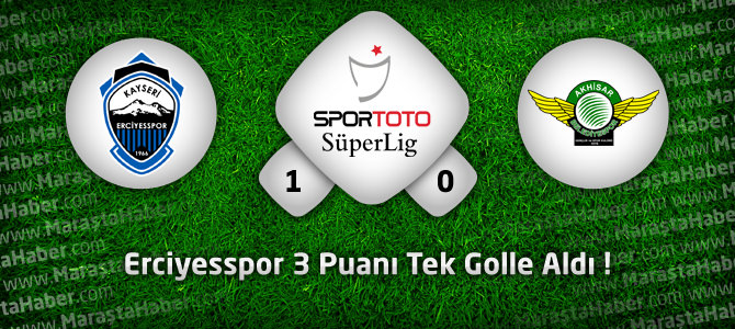 Kayseri Erciyesspor: 1 – Akhisar Belediyespor: 0 Maçın Geniş Özeti
