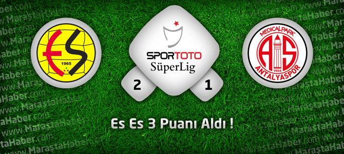 Eskişehirspor: 2 – Medical Park Antalyaspor: 1 Maçın geniş özeti ve golleri