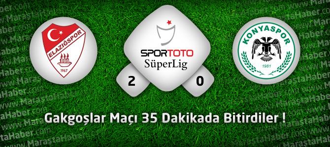 Elazığspor: 2 – Torku Konyaspor: 0 Maçın geniş özeti ve golleri