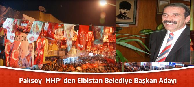 Paksoy MHP'den Elbistan Belediye Başkan Adayı
