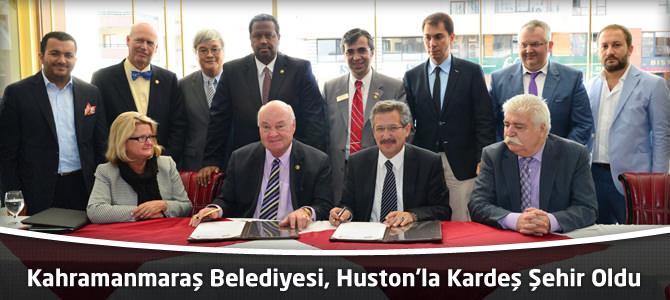 Kahramanmaraş Belediyesi, Huston'la Kardeş Şehir Oldu