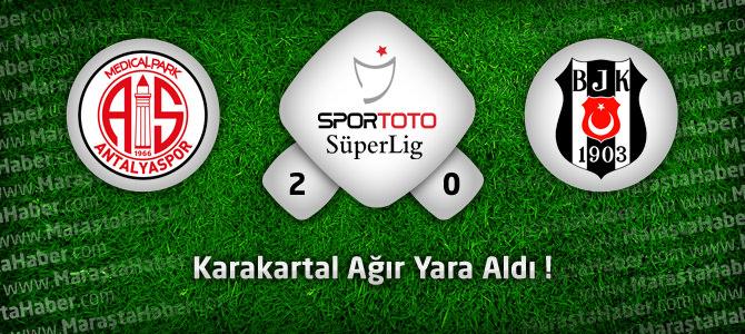 MP Antalyaspor 2 – Beşiktaş 0 Geniş maö özeti ve golleri