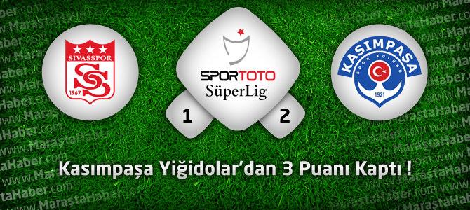Sivasspor: 1 – Kasımpaşa: 2 Maçın geniş özeti ve goller