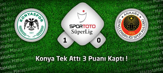 Torku Konyaspor: 1 – Gençlerbirliği: 0 Maçın geniş özeti ve golleri
