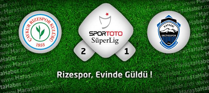 Çaykur Rizespor 2 – Kayseri Erciyesspor 1 Maç özeti ve Golleri