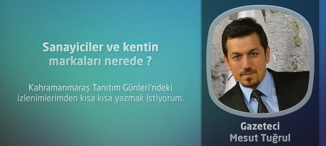 Kahramanmaraş'taki Sanayiciler ve kentin markaları nerede?