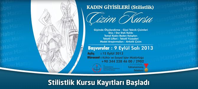 Kahramanmaraş Belediyesi Stilistlik Kursu Kayıtları Başladı