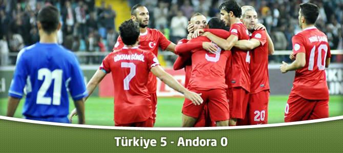 Türkiye 5 – Andora 0 Goller ve Maçın En Geniş Özeti