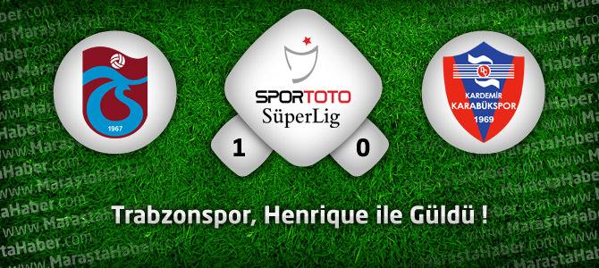 Trabzonspor 1 – Karabükspor 0 Maçın geniş özeti