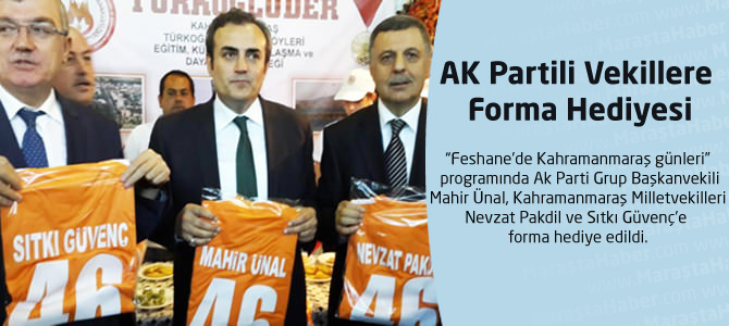 AK Partili Vekillere Forma Hediyesi