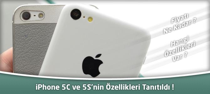 iPhone 5S ve iPhone 5C'nin tanıtımı yapıldı ! Özellikleri ve fiyatı