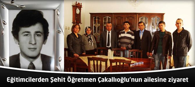 Eğitimcilerden Şehit Öğretmen Çakallıoğlu'nun ailesine ziyaret