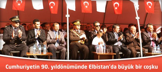 Cumhuriyetin 90. yıldönümünde Elbistan'da büyük bir coşku