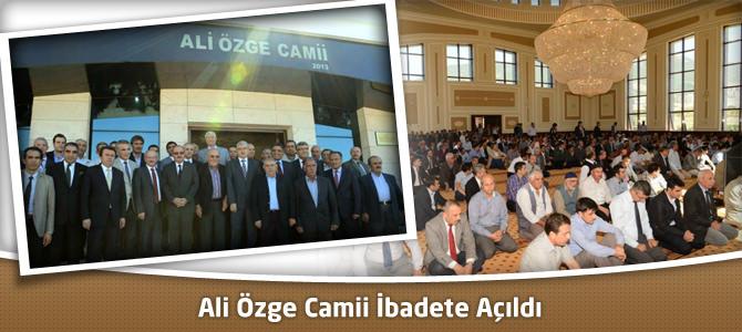 Sütçü İmam Üniversitesi (KSÜ) Ali Özge Camii İbadete Açıldı