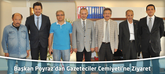 Başkan Poyraz'dan Kahramanmaraş Gazeteciler Cemiyeti'ne Ziyaret