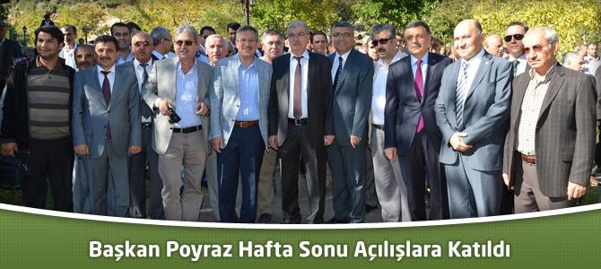 Başkan Poyraz Hafta Sonu Açılışlara Katıldı