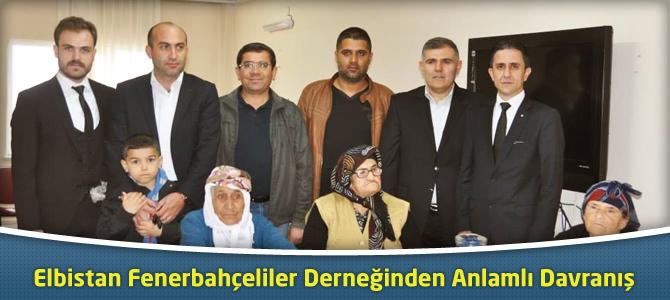 Elbistan Fenerbahçeliler Derneğinde Anlamlı Davranış