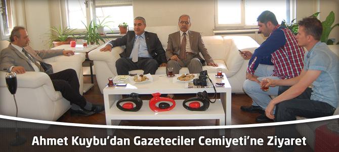 Ahmet Kuybu'dan Gazeteciler Cemiyeti'ne Ziyaret