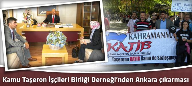 Kamu Taşeron İşçileri Birliği Derneği'nden Ankara çıkarması