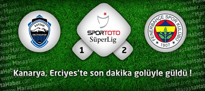 Kayseri Erciyesspor 1 – Fenerbahçe 2 Maçın geniş özeti ve golleri