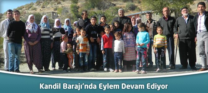Kandil Barajı'nda Eylem Devam Ediyor