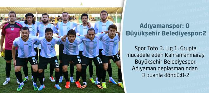 Büyükşehir Belediyespor, Adıyamansporu deplasmanda 2-0 yendi