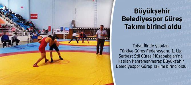Büyükşehir Belediyespor Güreş Takımı birinci oldu.