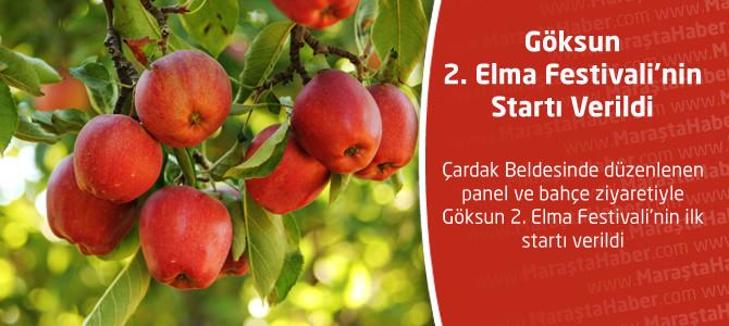 Göksun 2. Elma Festivali'nin startı verildi