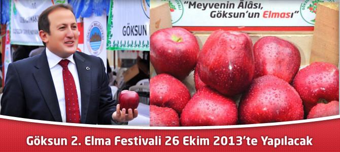 Göksun 2. Elma Festivali 26 Ekim 2013'te Yapılacak