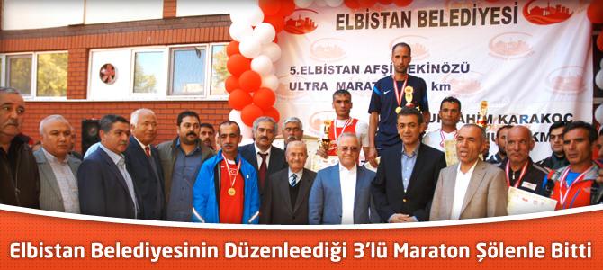 Elbistan Belediyesinin Düzenlediği 3'lü Maraton Şölenle Bitti